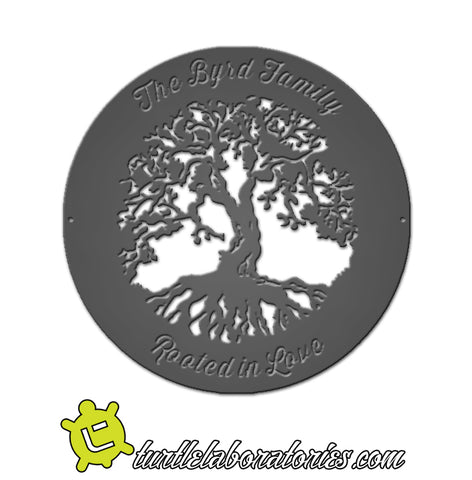 Custom Tree of Life Rooted in Love Sign