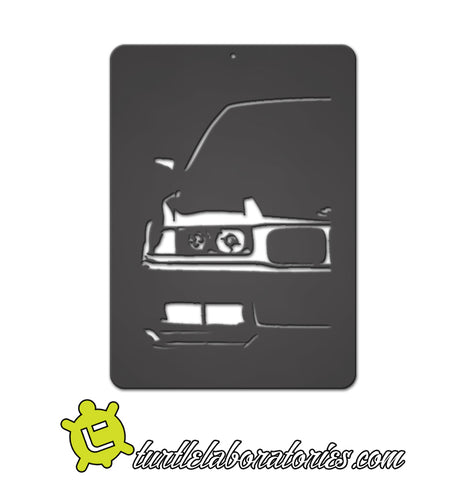 BMW E36 M3 Wall Art - Half View