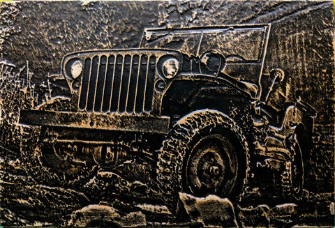 Jeep Ford GPW MB 3D Wood Carving