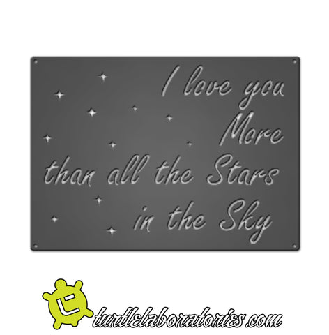 I Love You More Than All the Stars Metal Sign Home Decor