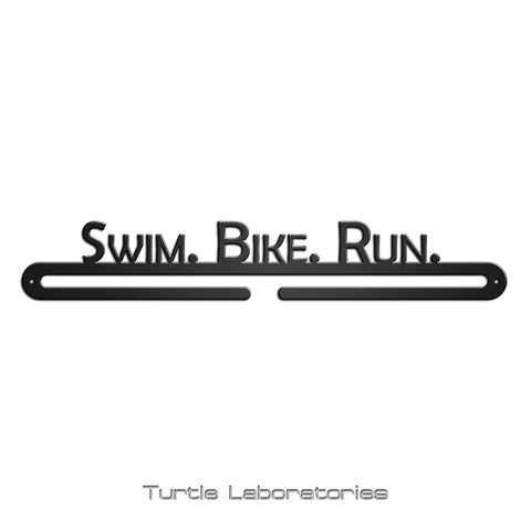Swim Bike Run Marathon Medal Hanger