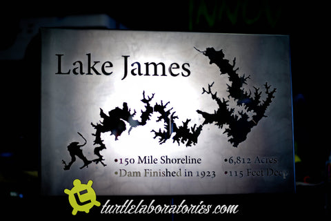 Lake James Metal Sculpture