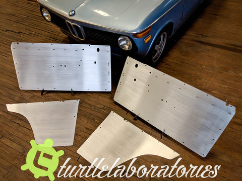 BMW 2002 Aluminum Factory Replacement Door Panels - FRONT AND REAR
