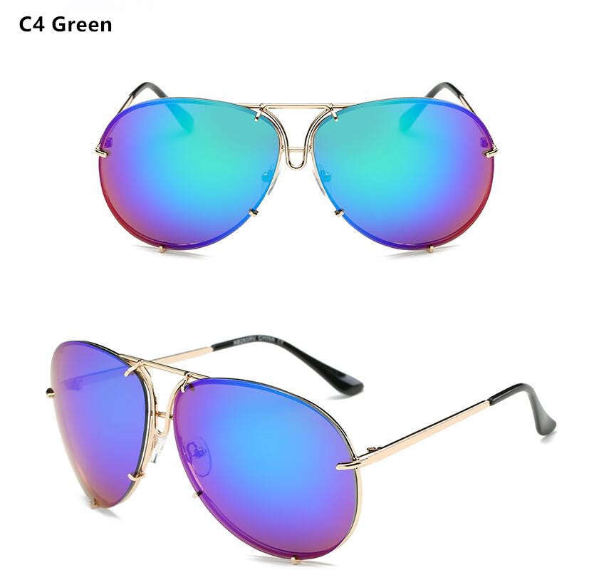 77fbdf6effe Rimless Glasses Oversized Clear Shades – The Glow Stop