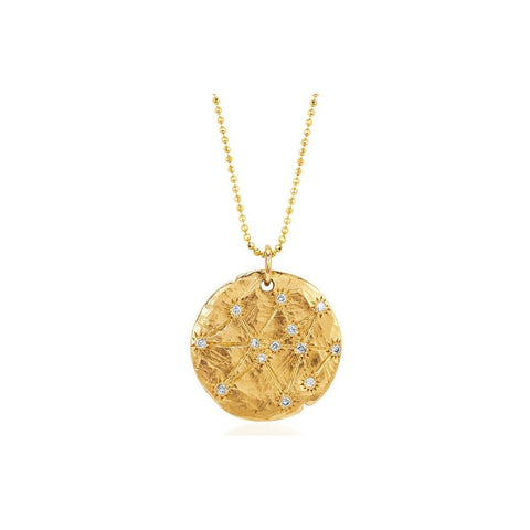 gold layering coin necklace constellation necklace
