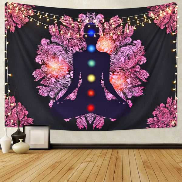 root chakras wall art tapestry bedroom root sacred crown chakra