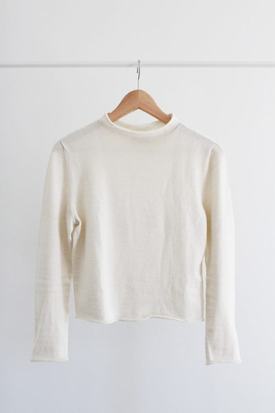 lightweight organic cream white sweater natural outfit ideas