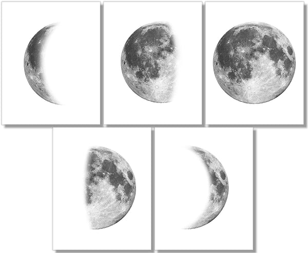 lunar moon phases wall design art painting