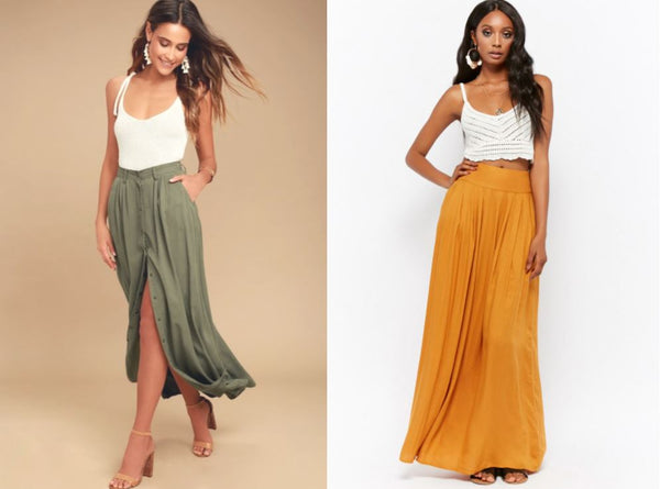 maxi skirt boho outfit