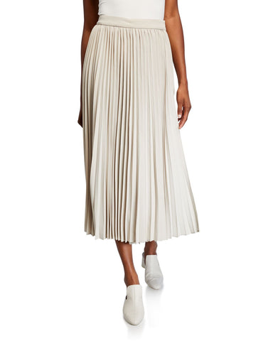 white pleated skirt casual womens outfit summer ideas