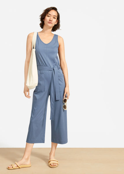 womens luxe denim classy jumpsuit summer outfit ideas