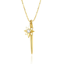 Load image into Gallery viewer, gold dagger and star unique layering necklace bohemian