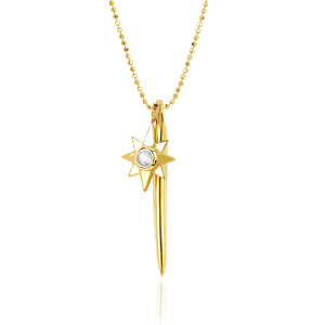 gold dagger and star unique layering necklace bohemian