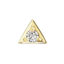 Load image into Gallery viewer, 18k Gold Vermeil Triangle Stud Earrings