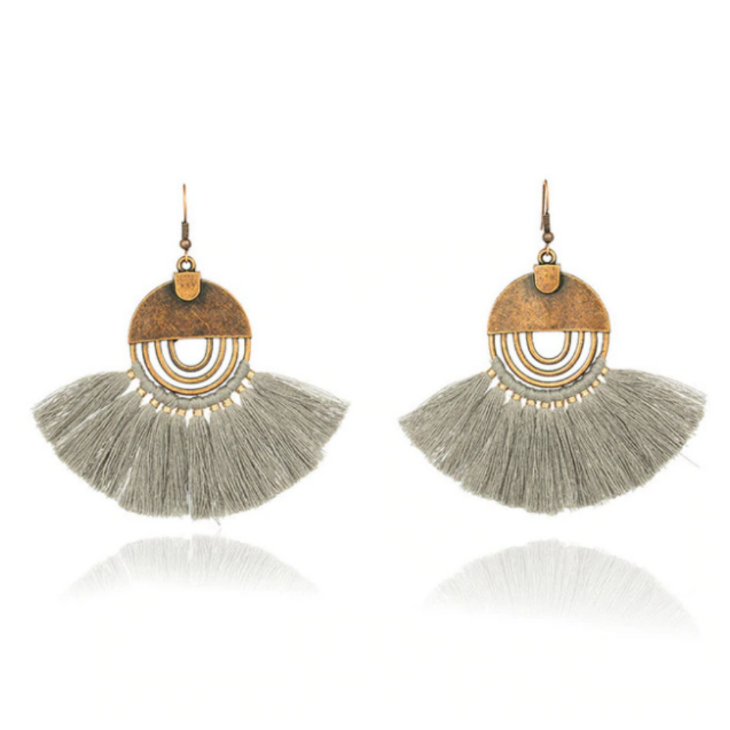 Bohemian Tassel Fringe Drop Earrings
