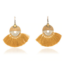 Load image into Gallery viewer, Bohemian Tassel Fringe Drop Earrings