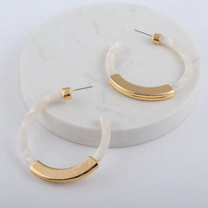 Modern Tortoise Shell Hoop Earrings Latest Trends