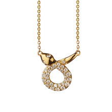 Load image into Gallery viewer, Gold Snake Pendant Necklace Charm