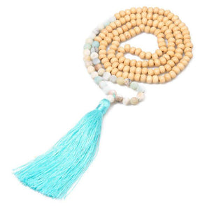 Tassel Bali Yoga Beaded Spiritual Mala Necklace