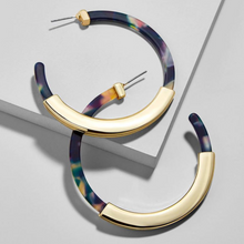 Load image into Gallery viewer, Modern Tortoise Shell Hoop Earrings Latest Trends