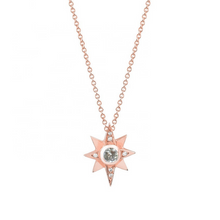 Load image into Gallery viewer, North Star Gold Charm Layering Necklace Bohemian Diamond