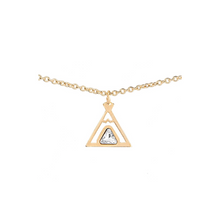 Load image into Gallery viewer, Teepee friendship necklace 18k gold chain tipi symbol