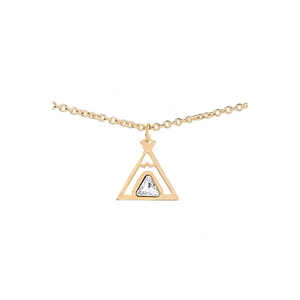 Teepee friendship necklace 18k gold chain tipi symbol