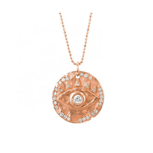 evil eye spiritual protection gold coin layering necklace