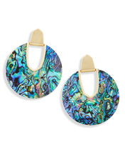 Load image into Gallery viewer, Diane Gold Statement Earrings In Abalone Shell