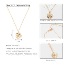 Load image into Gallery viewer, Minimalist Gold Round Coin Pendant Layering Necklace