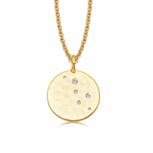 Load image into Gallery viewer, gold moon necklace charm crescent moon layering pendant