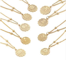 Load image into Gallery viewer, zodiac sign charm birth sign necklace zodiac constellation necklace charms