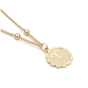 aries zodiac sign charm birth sign necklace