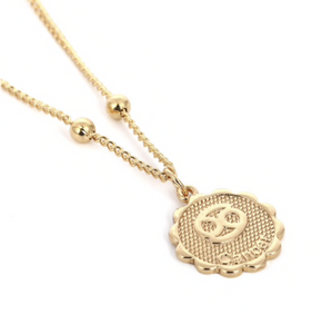 cancer zodiac sign charm birth sign necklace