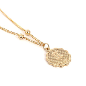 gold coin zodiac constellation necklace gemini birth sign zodiac necklace charm