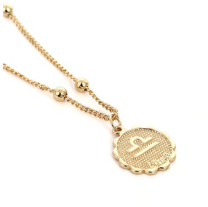 libra zodiac sign charm birth sign necklace