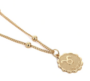 taurus zodiac sign charm birth sign necklace