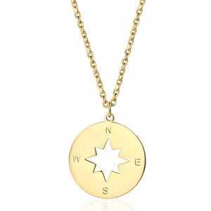 gold compass necklace charm meaning of compass