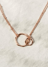 Load image into Gallery viewer, gold infinity eternity love circles necklace charm 18k gold jewelry eternal love