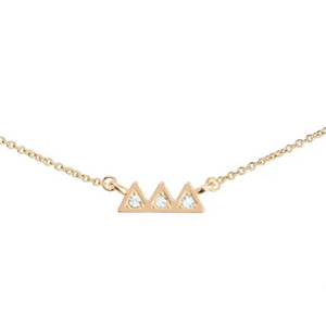 mountain peak necklace gold pendant chain jewelry