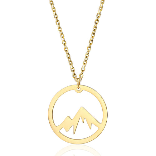 gold mountain shaped pendant necklace arizona mountain charm necklace