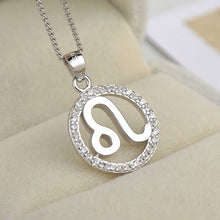 Load image into Gallery viewer, silver leo zodiac sign necklace astrology charm