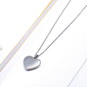 silver heart shaped pendant symbol of love necklace gold