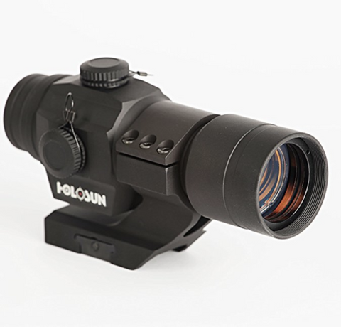 Holosun HS406A Tube Red Dot Sight with 30mm Cantilever Weaver Mount