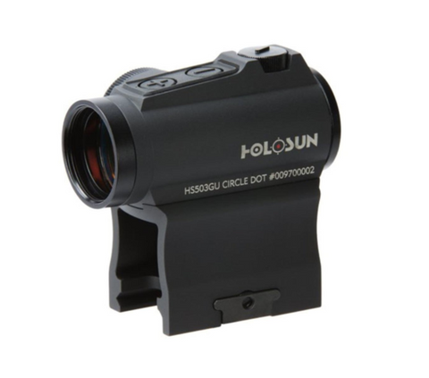 HOLOSUN HS503GU Circle Micro Red Dot Sight (2 MOA Dot, 65 MOA Circle)