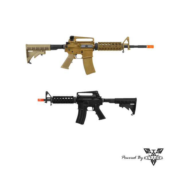 Daytona WE M4 RIS Fully Tuned Pre-built Complete Gun (Black/Tan)