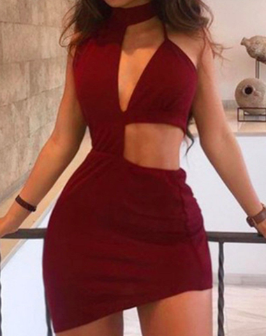 Wine Mini Dress
