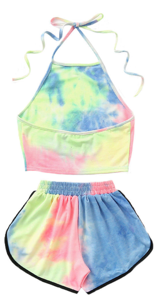 Halter Two Piece Beach Set