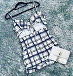 Checked Frill Two Piece