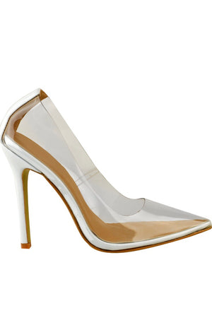 Perspex Pointed Court Shoes